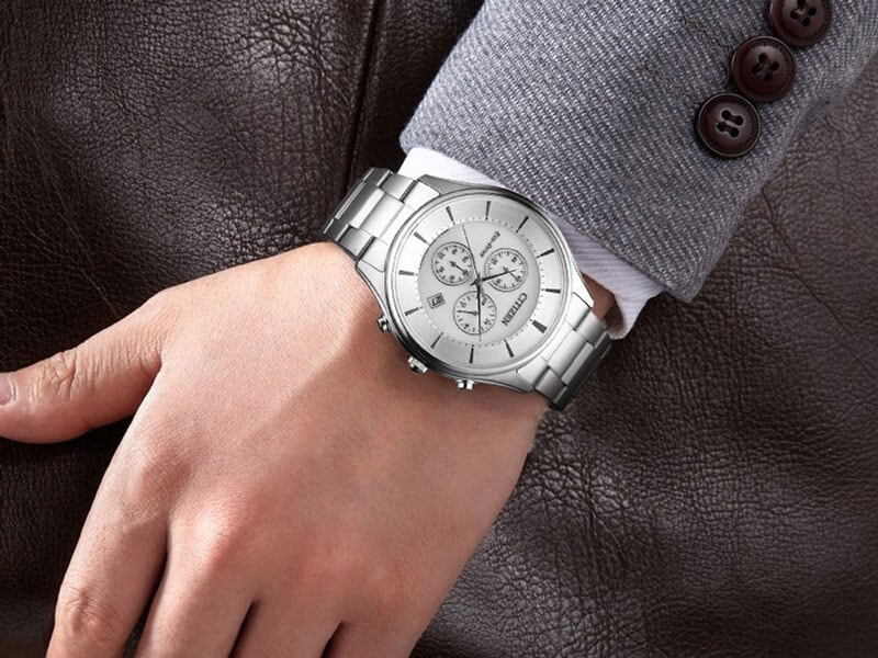 Đồng Hồ Citizen Nam Dây Kim Loại Eco-Drive AT2360-59A