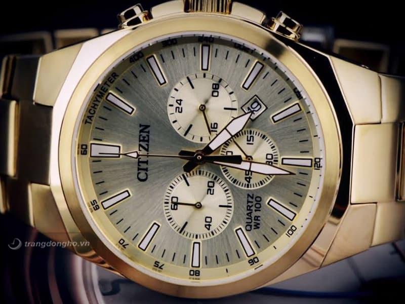 đồng hồ Citizen Nam dây kim loại Quartz AN8172-53P