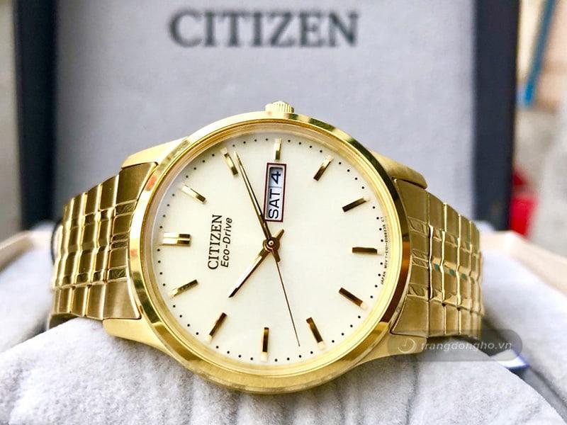 Đồng hồ nam Citizen mạ vàng Eco- Drive BM8452-99P