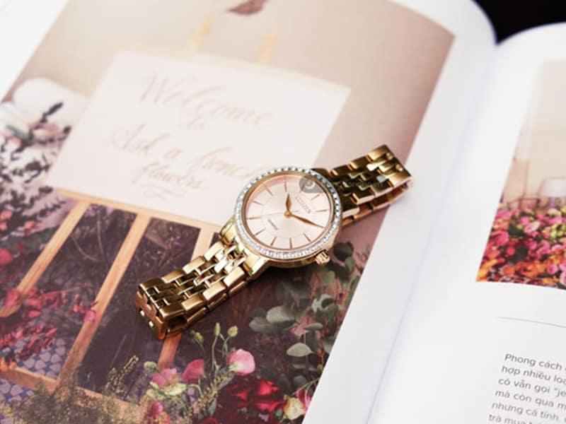 Đồng hồ Citizen nữ mặt tròn El304381X