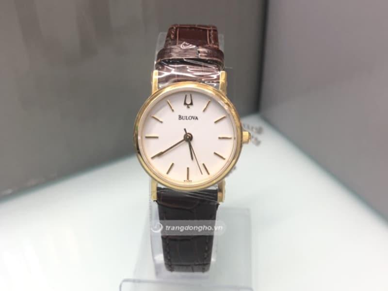 Đồng hồ Bulova nữ dây da Quartz 97L02