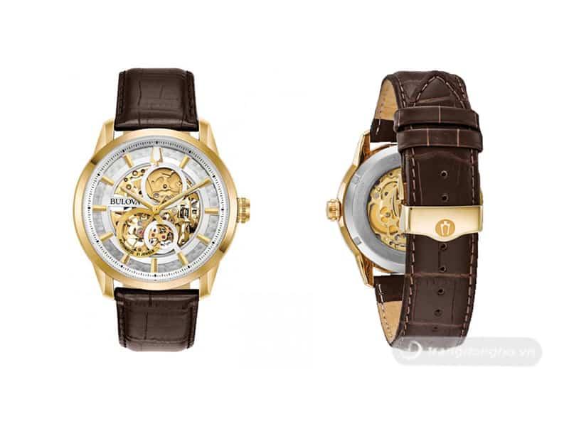 Thiết kế mặt tròn trẻ trung của đồng hồ Bulova 23 Jewels