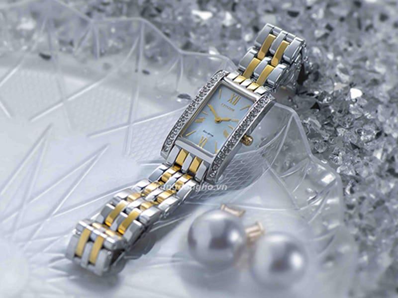 Đồng hồ Citizen nữ mặt vuông EX1474-85D