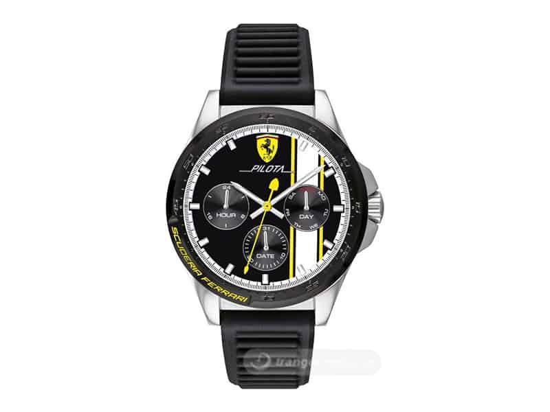 Đồng hồ Ferrari nam dây cao su quartz 0830659