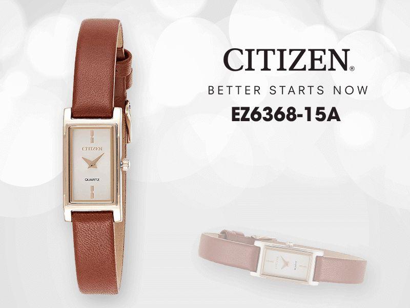 Đồng hồ Citizen EZ6368-15A sở hữu thiết kế cổ điển, cá tính và khéo léo