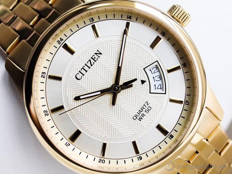 Citizen BI1052-85P Thiết kế hiện đại với vỏ mạ vàng sang trọng