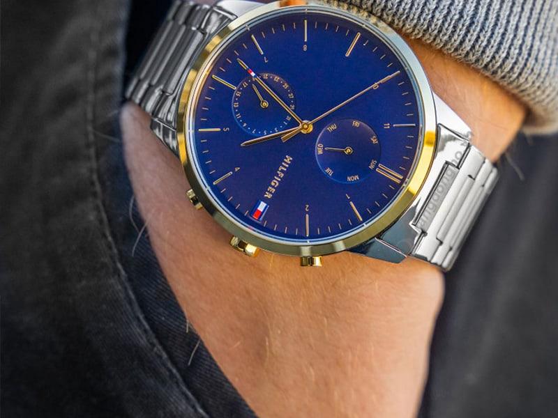 Đồng hồ Tommy Hilfiger 1710408 mặt xanh hiện đại